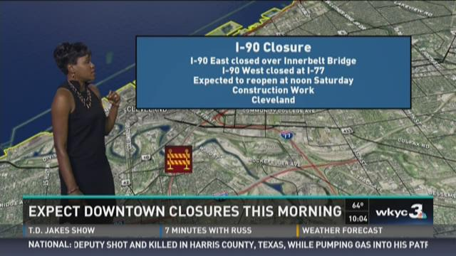 Saturday Traffic I 90 Closure at Inner belt bridge