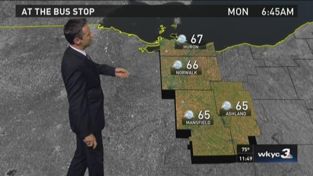 11 p.m. weather forecast for August 30, 2015