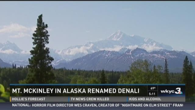 Mount McKinley in Alaska renamed Denali