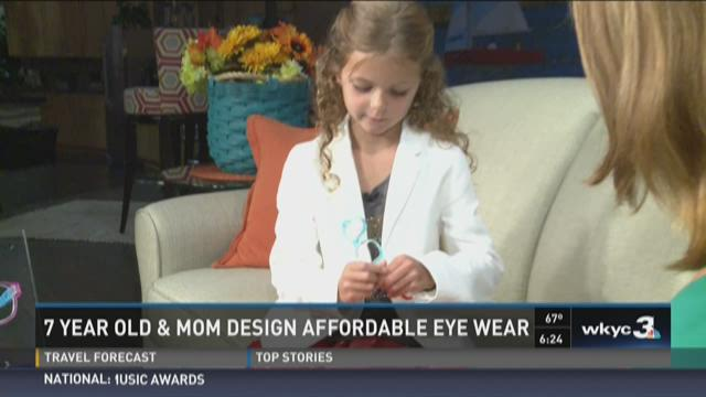 7-year-old and mom design affordable eye wear