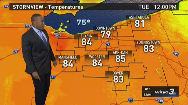 Noon weather forecast for Sept. 1, 2015