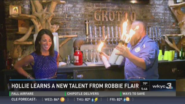 Hollie Giangreco learns a new talent from Robbie Flair