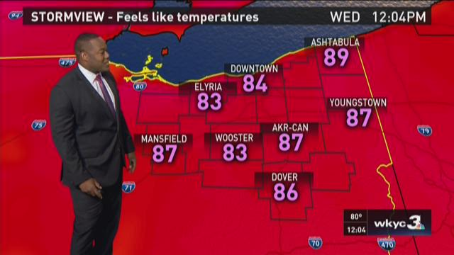 Noon weather forecast for Sept. 2, 2015
