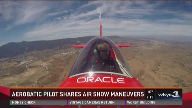 Aerobatic pilot shares air show maneuvers