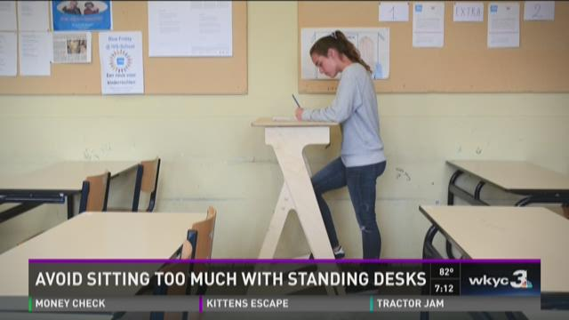Avoid sitting too much with standing desk