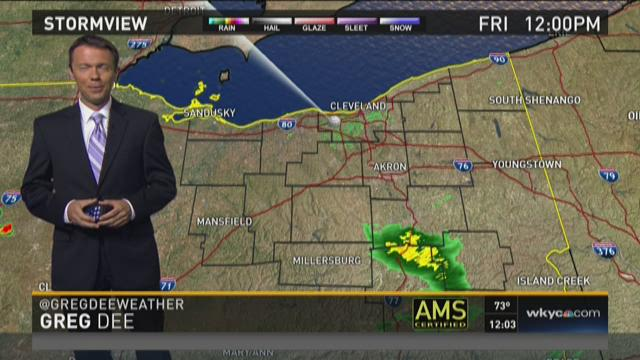 Noon weather forecast for Sept. 4, 2015