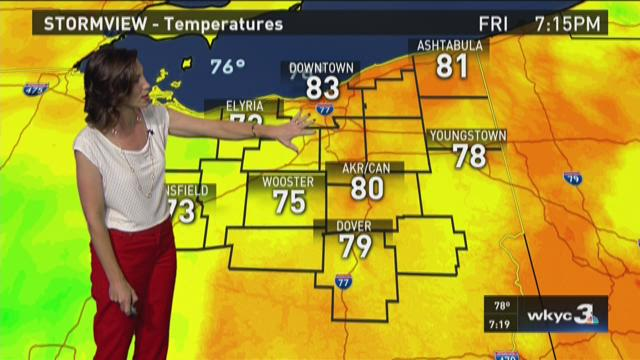 7 p.m. weather forecast for September 4, 2015