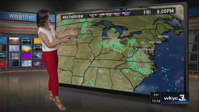 11 p.m. weather forecast for September 4, 2015