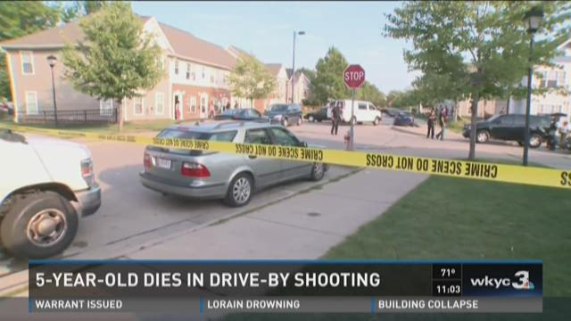 Boy, 5, killed in drive-by shooting on Cleveland's east side