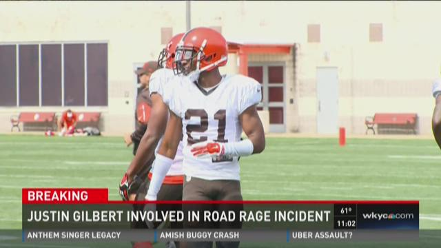 Police: Browns' Gilbert cited in road rage crash