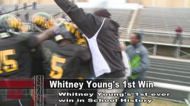 Whitney Young Celebrates 1st win