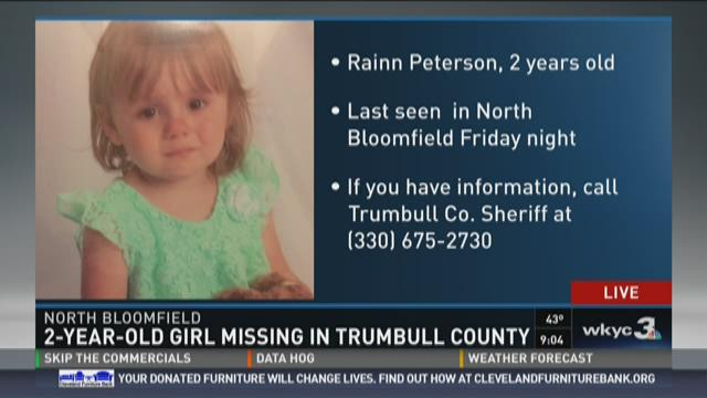 Authorities searching for missing toddler in Trumbull County