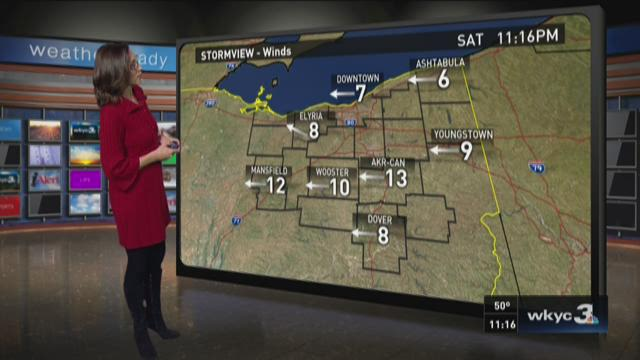 11 p.m. weather forecast for October 3, 2015