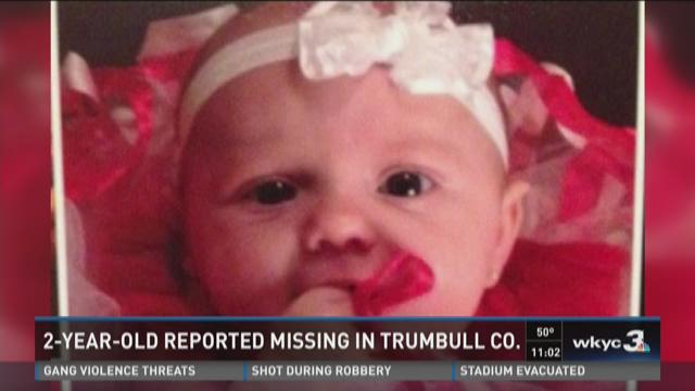 2-year-old reported missing in Trumbull County