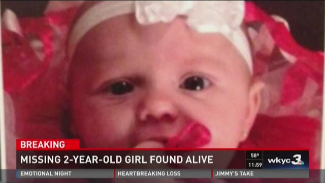 Missing 2-year-old girl found alive