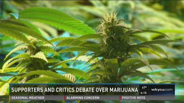 Supporters and critics debate over marijuana