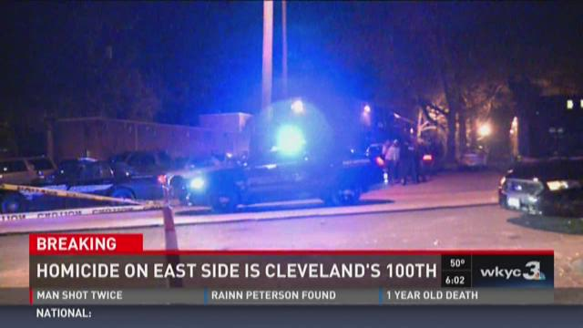 Overnight murder marks 100th homicide in Cleveland