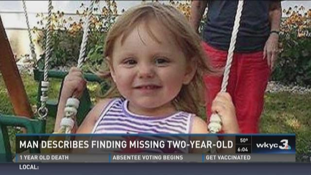 Man describes finding missing two-year-old