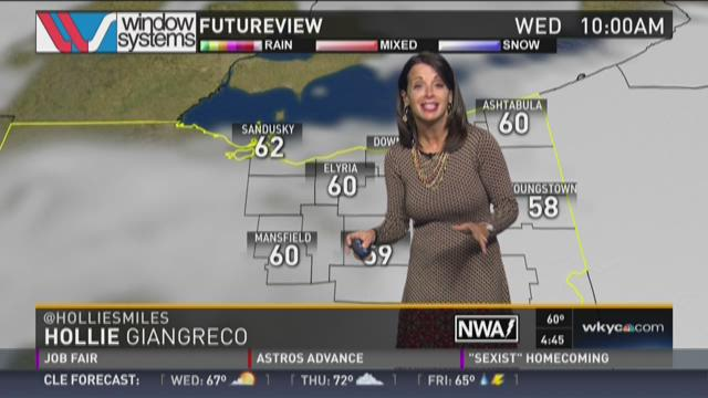 Hollie Giangreco delivers the weather forecast.