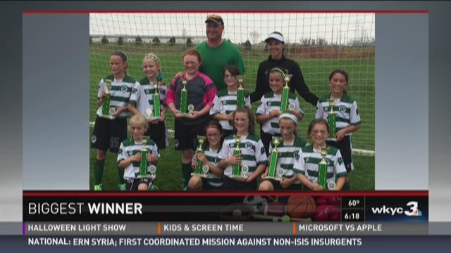 Biggest Winner : Westlake 10 and under girls soccer team