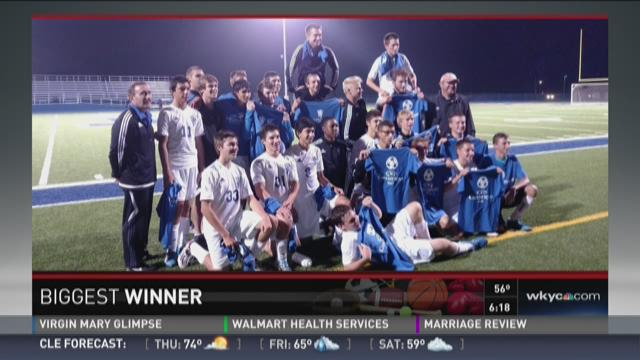 The biggest winner for Thursday October 8th is the Independence Boys Soccer Team.