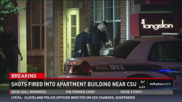 Shots fired into CSU apartment