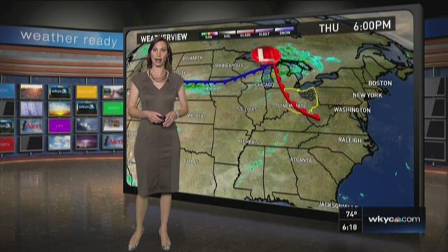 6 p.m. weather forecast for October 8, 2015