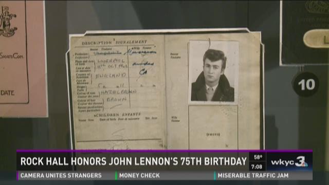 It's John Lennon's birthday