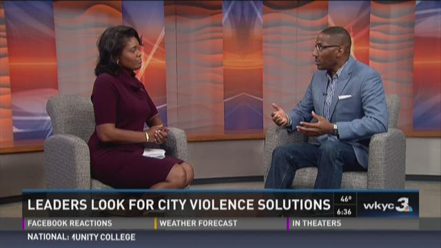 Leaders look for city violence solutions in Cleveland