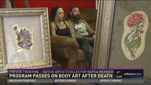 Sharing body art after death