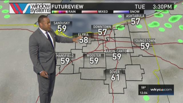 Noon weather forecast for Tuesday, October 13, 2015