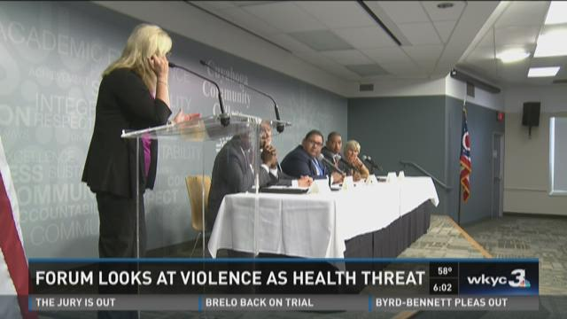 Forum looks at violence as health threat
