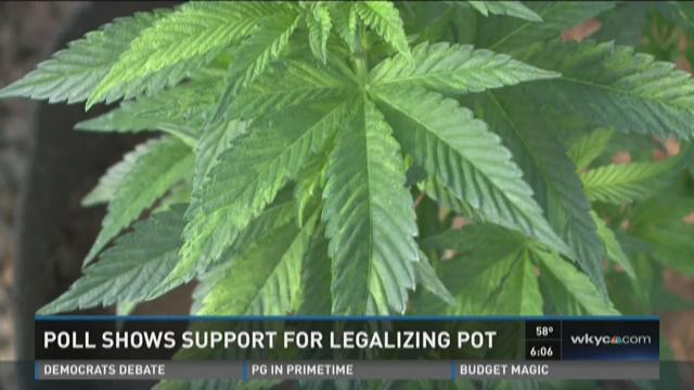 Poll shows support for legalizing pot