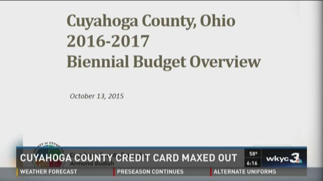 Cuyahoga County credit card maxed out