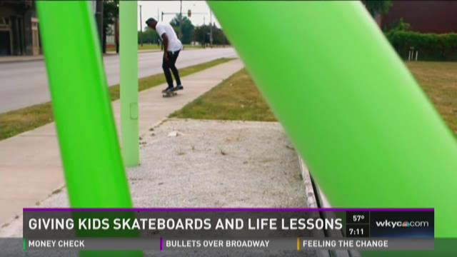 Giving kids skateboards and life lessons
