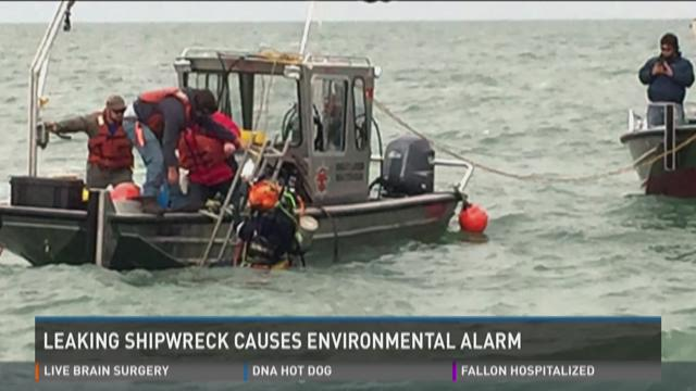 Coast Guard: unknown substance found near Lake Erie shipwreck
