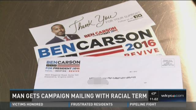 Akron man receives campaign mail with racial slur