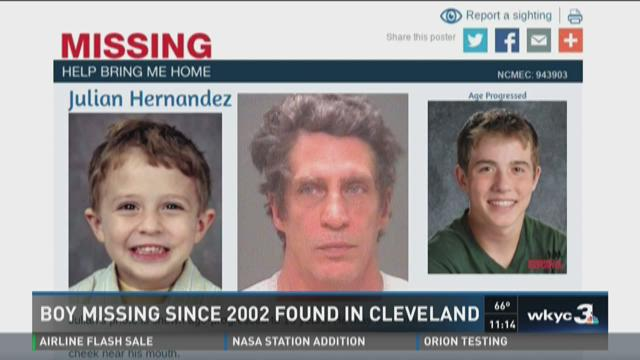Boy missing over a decade found in Cleveland