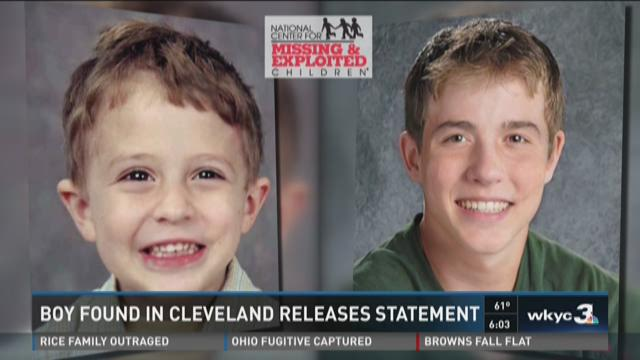 Boy found in Cleveland releases statement