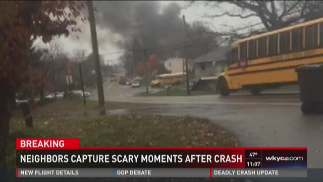 Neighbors capture scary moments after crash