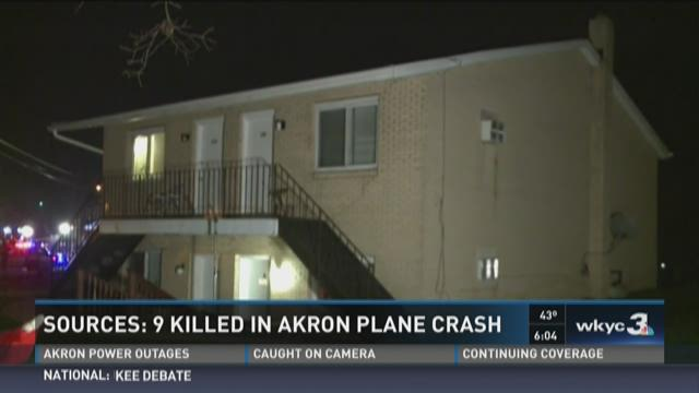 Akron plane crash: No one on ground injured