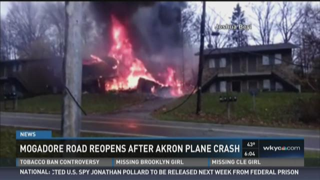 The plane crashed into the home located at 3041 Mogadore Road, near Skelton Road.