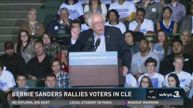 Bernie Sanders hosts rally in Cleveland
