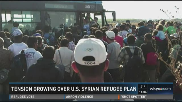 Tension growing over U.S. Syrian refugee plan