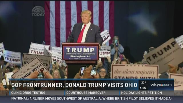 Donald Trump making first campaign stop in Ohio