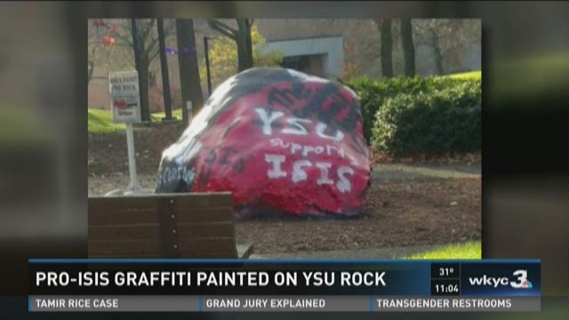 Pro-ISIS messages painted on Youngstown State rock