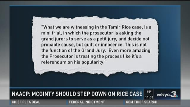 Cleveland NAACP calls for McGinty to step aside in Rice case